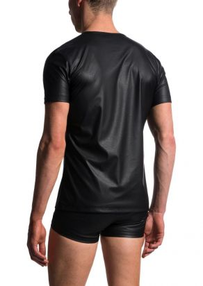 M104 V-Neck regular black | M