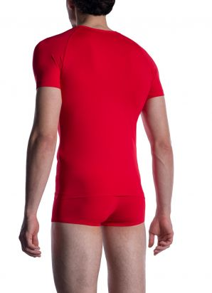 M800 V-Neck Tee reg.  red | L